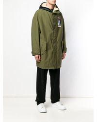 N°21 Green Faux-fur Parka for men
