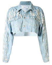 Dalood Blue Jeansjacke mit Perlen