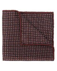 Foulard à carreaux Canali pour homme en coloris Brown