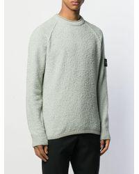 Stone Island Green Knitted Sweatshirt for men