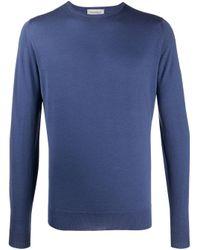 John Smedley Gestrickter Pullover in Purple für Herren
