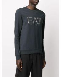 メンズ EA7 ロゴ スウェットシャツ Blue