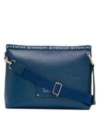 メンズ Givenchy ロゴ クラッチバッグ Blue