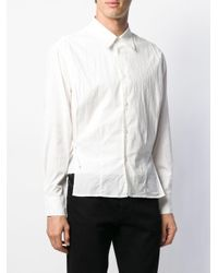Wrinkled tie-fastening shirt di Our Legacy in White da Uomo
