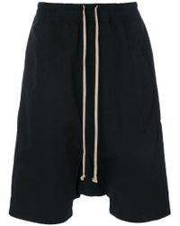Rick Owens Drkshdw | Black Drawstring Drop-crotch Shorts for Men | Lyst