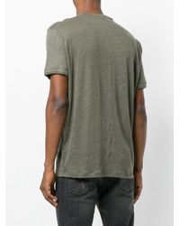 John Varvatos - Gray Button Placket T-shirt for Men - Lyst