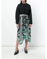 Dorothee Schumacher - Black Floral Print Asymmetric Skirt - Lyst