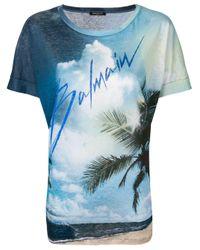 Camiseta Balmian estampada Balmain de color Blue