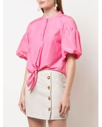 Nicholas タイフロント シャツ Pink