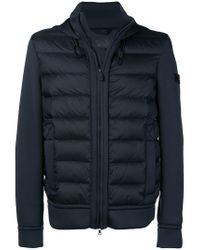 Peuterey - Blue Hooded Padded Jacket for Men - Lyst