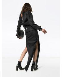 Robe longue à fentes latérales Rick Owens en coloris Black