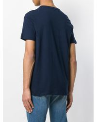 Majestic Filatures Blue Casual T-shirt for men