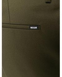 メンズ MSGM ハイウエスト ストレートパンツ Green