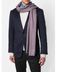Pal Zileri - Purple Printed Fringed Scarf for Men - Lyst