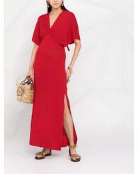 P.A.R.O.S.H. サイドスリット ドレス Red