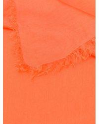 Faliero Sarti シルクスカーフ Orange
