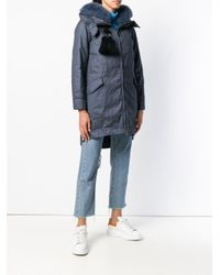 Peuterey - Blue Zipped Padded Coat - Lyst