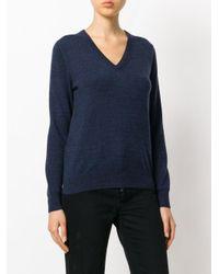 N.Peal Cashmere - Blue V-neck Jumper - Lyst