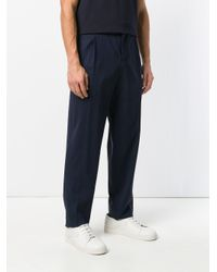 Ferragamo Blue Classic Flared Trousers for men