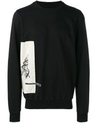 Rick Owens Drkshdw Black Side-print Sweatshirt for men