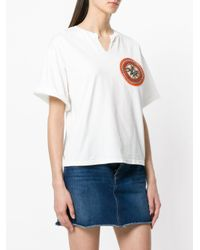 Mr & Mrs Italy - White Neck Slit Patched T-shirt - Lyst