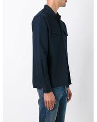 AMI Blue Camp Collar Overshirt for men