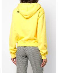 Felpa con logo di Off-White c/o Virgil Abloh in Yellow