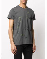 メンズ Helmut Lang ロゴ Tシャツ Gray