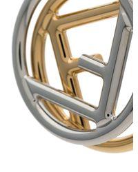 Ff Logo Earrings Fendi, цвет: Metallic