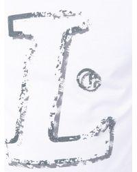 Lanvin White Letter Logo Print T-shirt for men