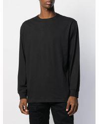 メンズ Maharishi エンブロイダリー ロングtシャツ Black