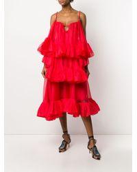 Christopher Kane フリル ドレス Red