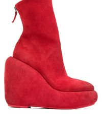 Marsèll Red Platform Ankle Boots