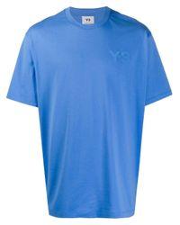 メンズ Y-3 オーバーサイズ Tシャツ Blue