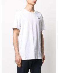 The North Face White Crew-neck Logo T-shirt for men