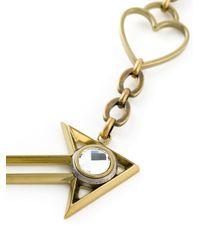 Lanvin Metallic Arrow And Heart Necklace