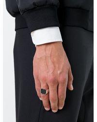 Tom Wood Cushion Onyx Signet Ring Multicolor