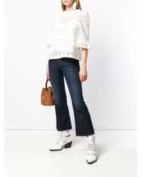 Pt05 Blue Flared Jeans
