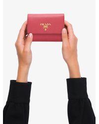 Prada サフィアーノ 三つ折り財布 Pink