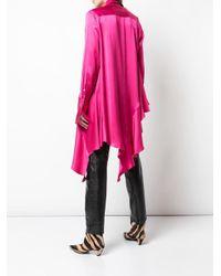 Palmer//Harding Pink Asymmetrische Bluse mit Raffungen