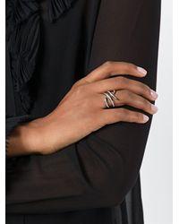 Eshvi - Metallic 18kt White Gold Ring With Black Rhodium Plate - Lyst