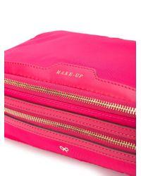 Anya Hindmarch Pink Zipped Make-up Bag