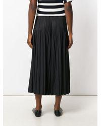 Pleats Please Issey Miyake - Blue Cropped Wide-leg Trousers - Lyst
