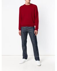 A.P.C. Red Crew Neck Jumper for men