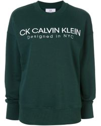 Calvin Klein ロゴ スウェットシャツ Green