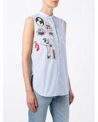 N°21 Blue Multi Patch Shirt