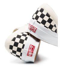 メンズ Vans Ua Og Authentic Lx チェッカー スリッポンスニーカー Black