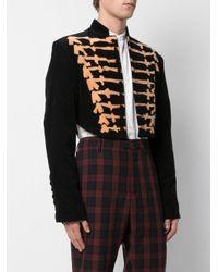 CHARLES JEFFREY LOVERBOY Black Print Fitted Jacket
