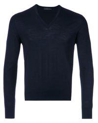 メンズ Prada Umm985c5w F0008 Wool Or Fine Animal Hair->lambs Wool Blue