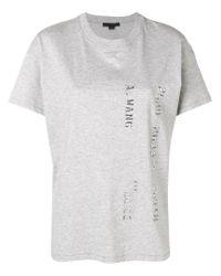 Camiseta con logo Alexander Wang de color Gray